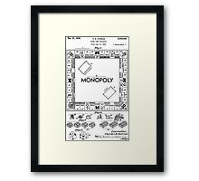 Monopoly Patent 1935 Framed Print