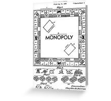 Monopoly Patent 1935 Greeting Card