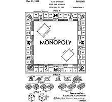 Monopoly Patent 1935 Photographic Print