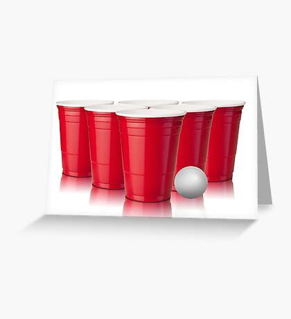 Beer Pong Greeting Card