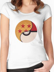 Pokemon Dragon Ball Fusion  Women's Fitted Scoop T-Shirt