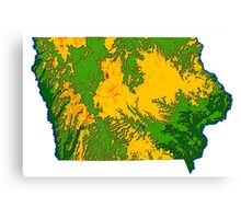 Physically Iowa Canvas Print