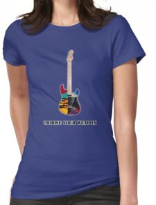 Choose Your Weapon Guitar retro music guitarist metal  Womens Fitted T-Shirt