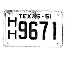 Antique Texas License Plate by digitaleclectic