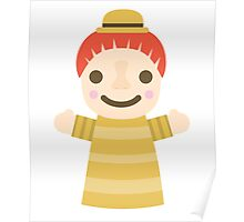 Puppet Show Emoji Happy Smiling Face Poster
