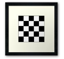 Black and White Checkerboard 2 Framed Print
