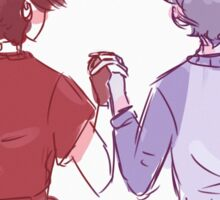 Klance red and blue Sticker