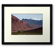 Fisher Towers and La Sals Framed Print