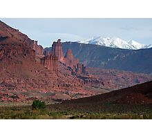 Fisher Towers and La Sals Photographic Print