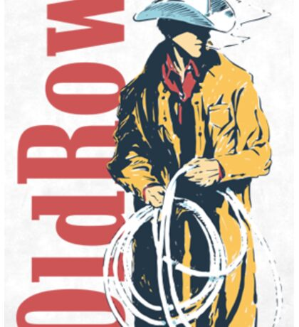 Old Row Cowboy Sticker