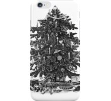 Vintage Christmas Tree With Ornaments and Toys iPhone Case/Skin