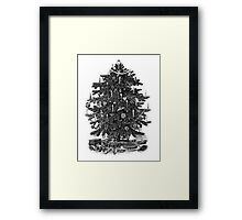 Vintage Christmas Tree With Ornaments and Toys Framed Print