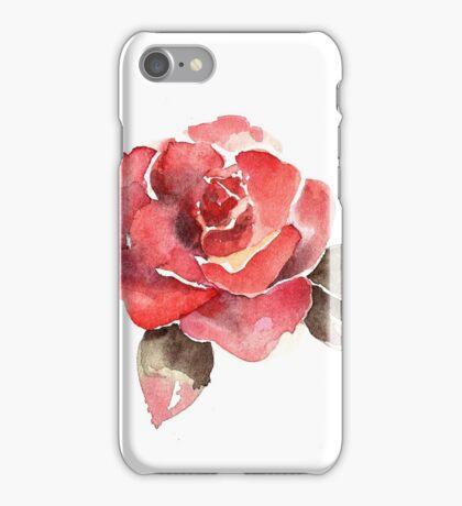 watercolor rose iPhone Case/Skin