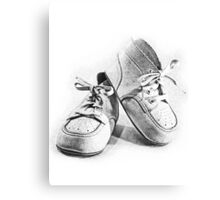 Vintage Baby Shoes Canvas Print
