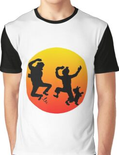 tintin sunset Graphic T-Shirt
