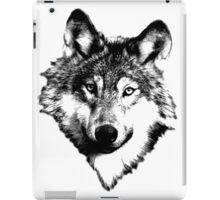 Wise Wolf Face. Animal Prints. Digital Wildlife Engravings. iPad Case/Skin