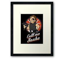 Call me Snake Framed Print