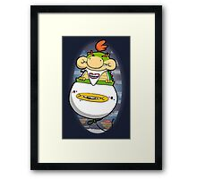Joyriding dad's clown car Framed Print