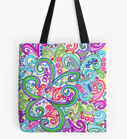 Random VSwirls Tote Bag
