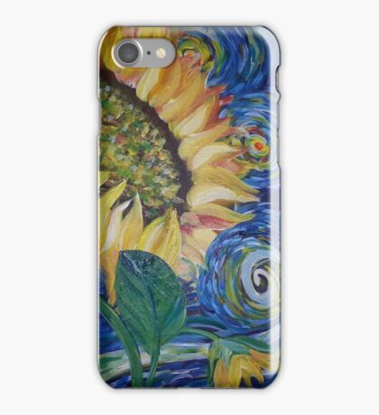 Sunflowers among the stars iPhone Case/Skin