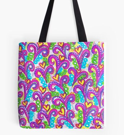Pink VSwirls Tote Bag