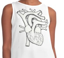 Hatched Heart Contrast Tank