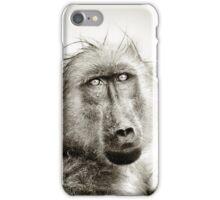 Wet Baboon portrait iPhone Case/Skin