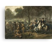 George Washington as a Soldier Canvas Print