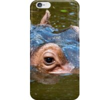 Happy Hippo Portrait iPhone Case/Skin