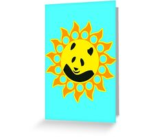 Sun Panda Greeting Card