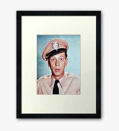 Barney Fife in color Framed Print