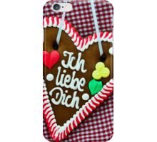 Oktoberfest Gingerbread Heart iPhone Case/Skin