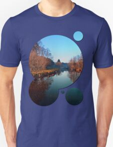 Winter mood on the river | waterscape photography T-Shirt