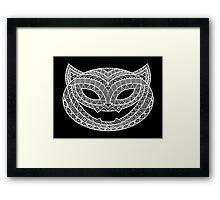 Patterned Halloween Cat Framed Print