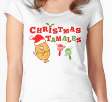 Christmas Tamales Women's Fitted Scoop T-Shirt