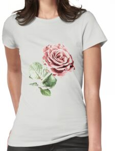 Red Rose of Love Womens Fitted T-Shirt