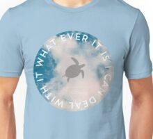 Sky flying sea turtle cloudy silhouette Unisex T-Shirt