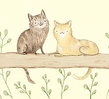 Cats on the Fence by Sophie Corrigan