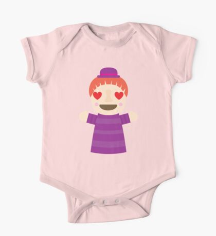 Puppet Show Emoji Heart and Love Eyes One Piece - Short Sleeve
