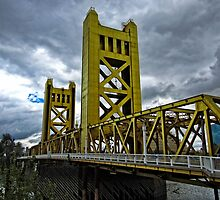 The Tower Bridge In Old Sacramento by Thom Zehrfeld