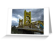The Tower Bridge In Old Sacramento Greeting Card