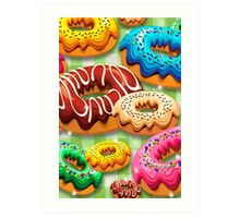 Donuts Party Time   Art Print