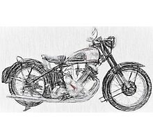 The Panther a Classic 1950s Motorcycle Photographic Print