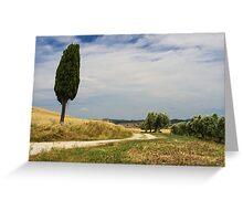 A Tuscan Scene, Pienza, Siena, Tuscany, Italy Greeting Card