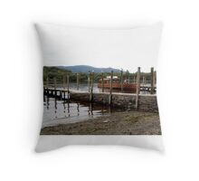 Keswick Jetty, Cumbria, UK Throw Pillow