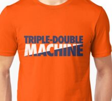 Triple-Double Machine (Navy-White/Navy) Unisex T-Shirt