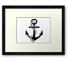 Nautical Anchor Framed Print