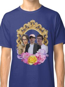 Cancer Crew Flower Frame Classic T-Shirt