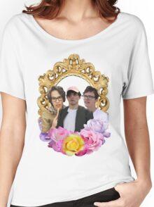 Cancer Crew Flower Frame Women's Relaxed Fit T-Shirt