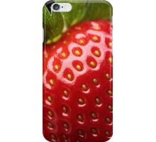 Fresh strawberry close-up iPhone Case/Skin